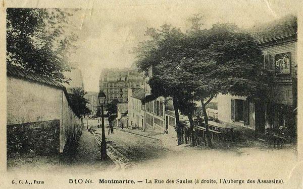 La rue des Saules au début du XXe siècle