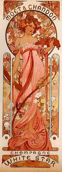 Moët & Chandon White Star, par Alfons Mucha