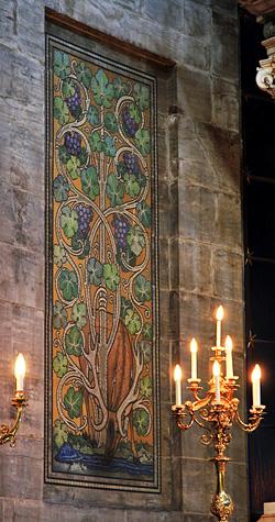Détail des fresques entourant l'autel