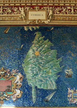 Carte de la Corse dans la galerie des cartes géographiques du Vatican