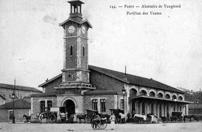 L'ancien pavillon du marché à la criée des abattoirs de Vaugirard