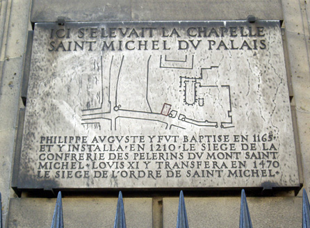 Plaque sur l'actuel boulevard du Palais