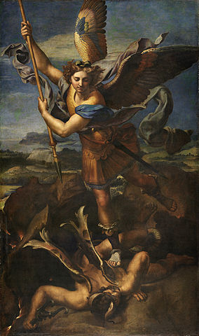 Saint Michel terrassant le démon, par Raphaël
