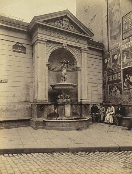 La fontaine Charlemagne par Eugène Atget