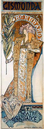 Affiche de Mucha pour Gismonda au Théâtre de la Renaissance (1894)