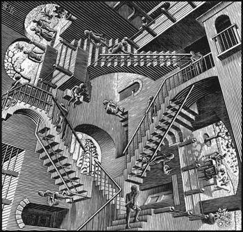 Relativité d'Escher (1953)