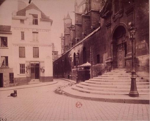 La place de l'abbé Basset par Eugène Atget