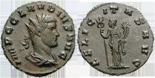 Antoninien avec la déesse Felicité au verso